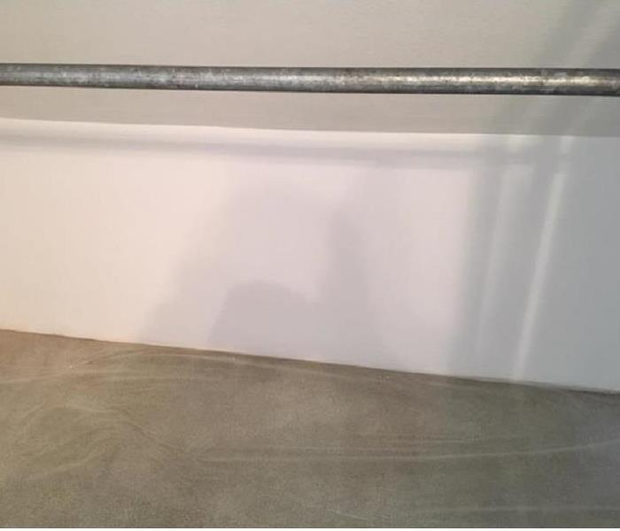 Surface mold in closet After