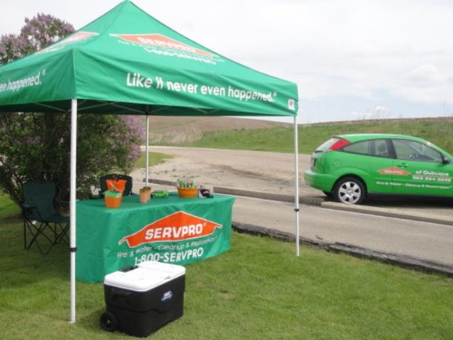 SERVPRO Tent at Golf Outing