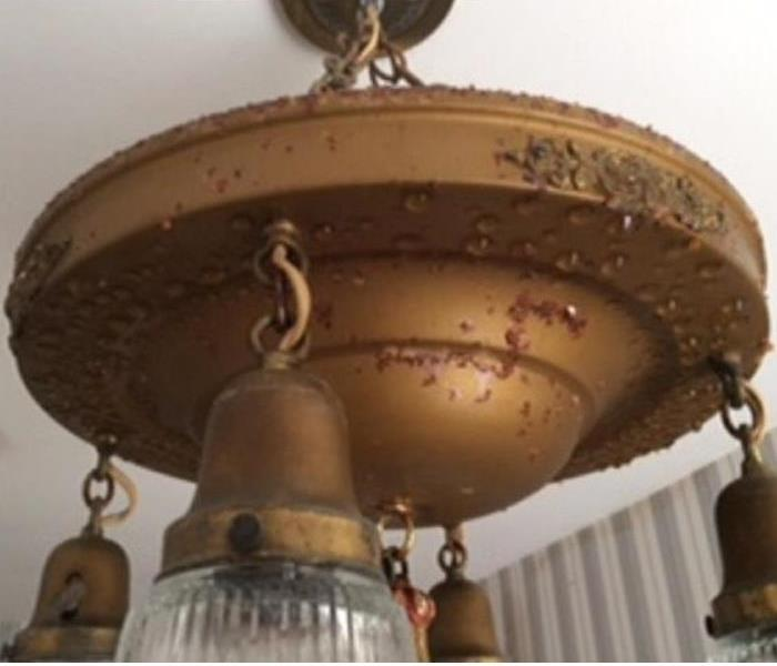 Antique chandelier- excessive secondary moisture